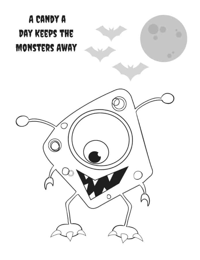 Funny Halloween Coloring Sheets