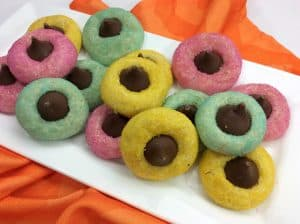 Adorable Easter Thumbprint Cookies