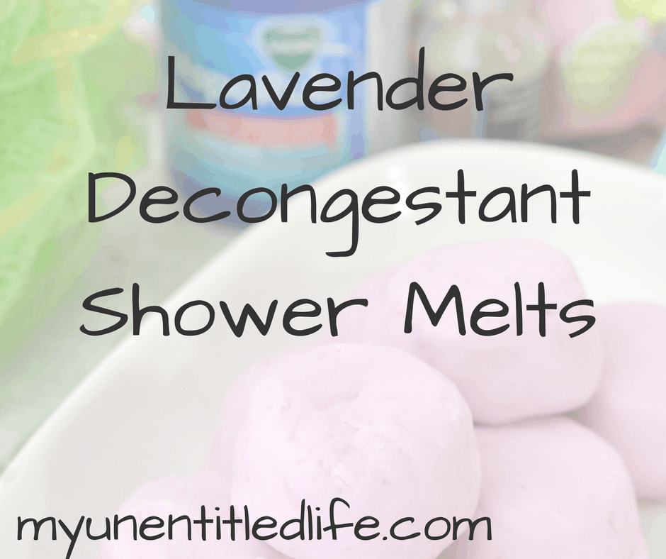 Lavender Decongestant Shower Melts
