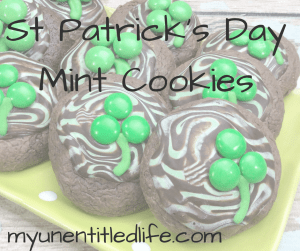Delicious St. Patrick's Day Mint Cookies