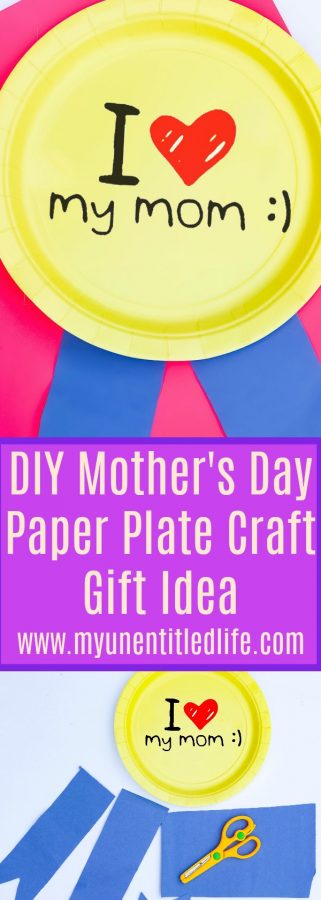 DIY Mothers Day Paper Plate Craft Gift Idea