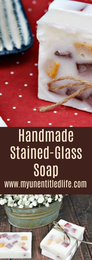 How to make Handmade Orange and Vanilla Stained-Glass Soap Recipe