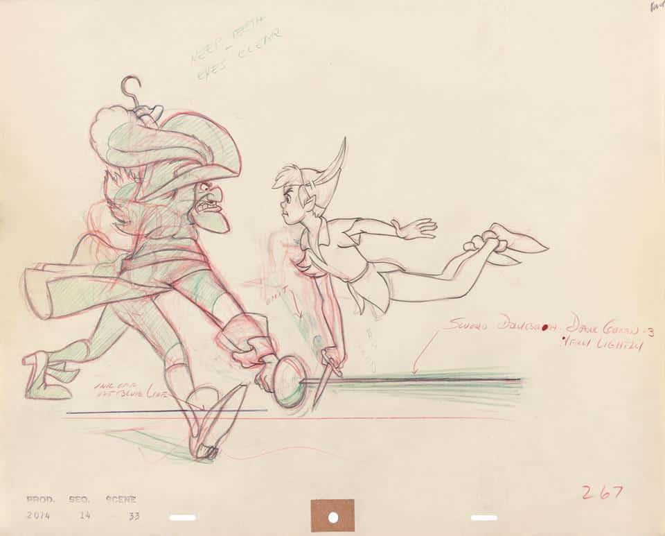 captain hook and peter pan artwork in arl