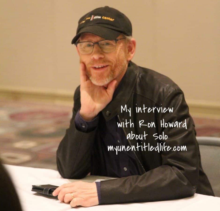 interview with Ron Howard about Solo