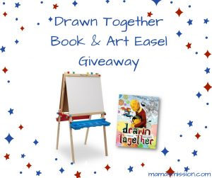 drawn together book and easel giveaway