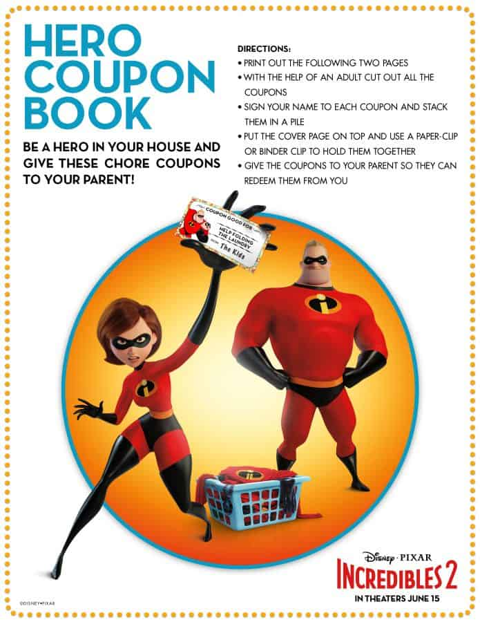 Incredibles 2 is in theaters new clips and free printables for you