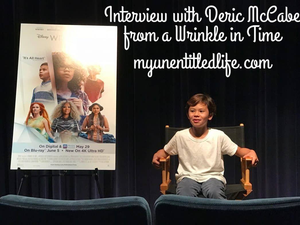 Interviewing Deric McCabe from A Wrinkle In Time