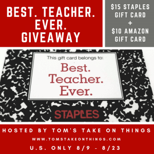 best teacher ever giveaway