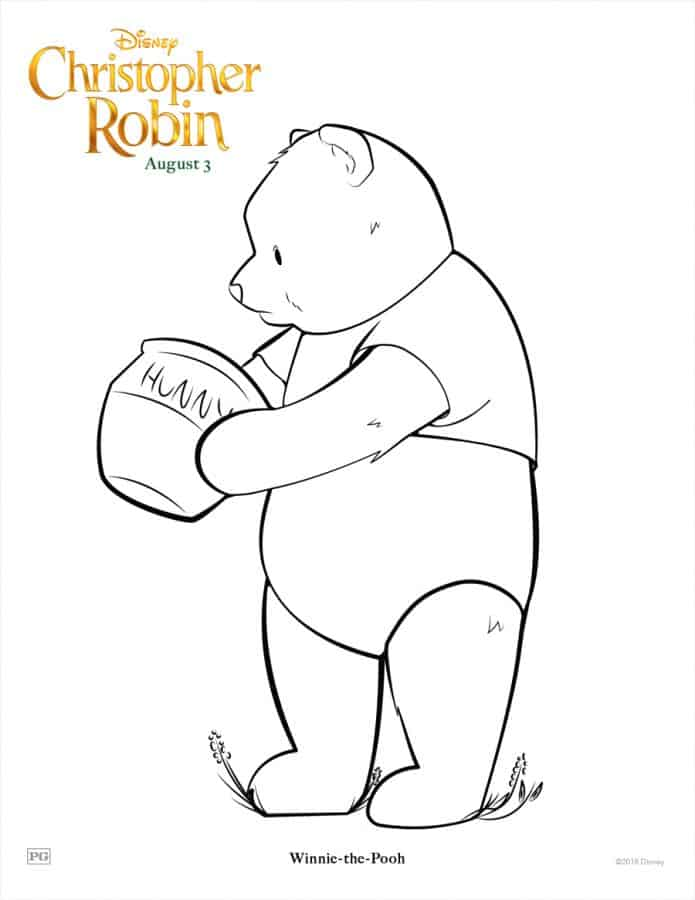 Christopher Robin free printables and a trailer too