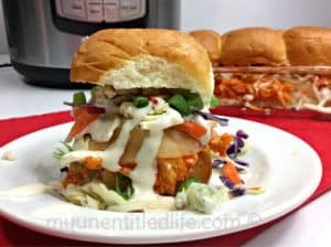 Instant Pot Buffalo Chicken Sliders Recipe