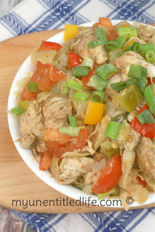 Instant Pot Jamaican Jerk chicken Stir Fry Recipe #weightwatchers
