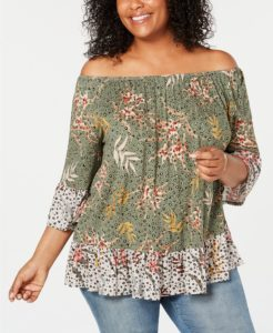 plus size tops on sale at macys