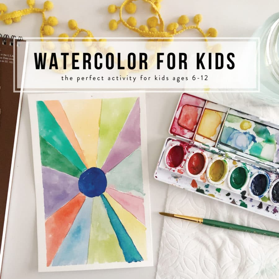 how to learn to use watercolors for kids