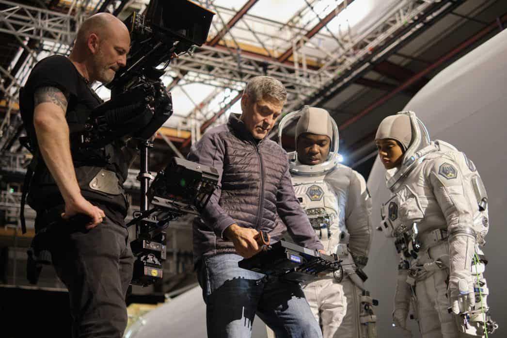 clooney on set of midnight sky