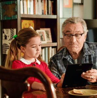 Robert De Niro in the war with grandpa