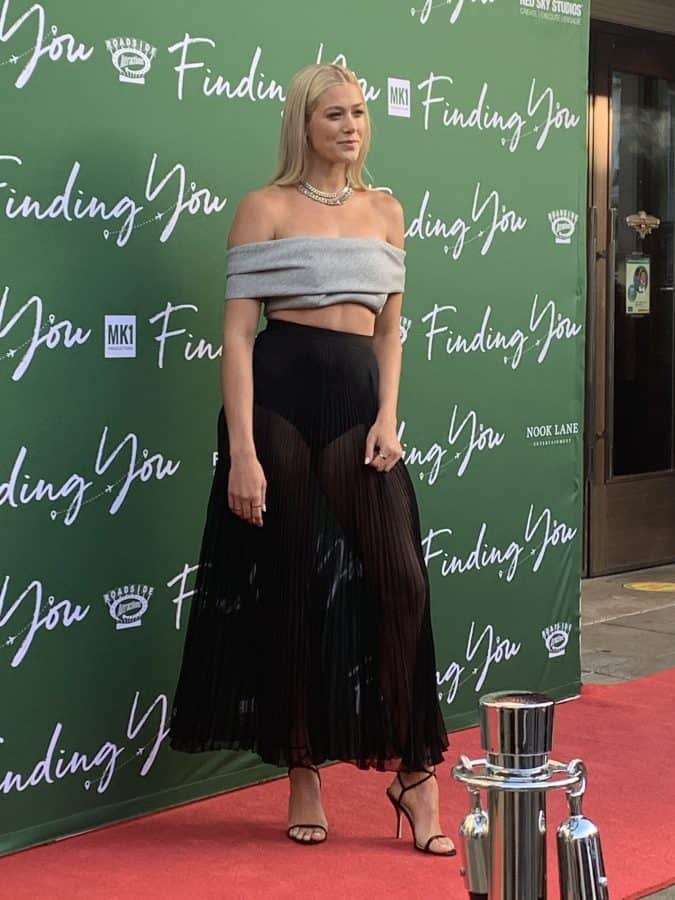 Rose Reid on the red carpet of finding you